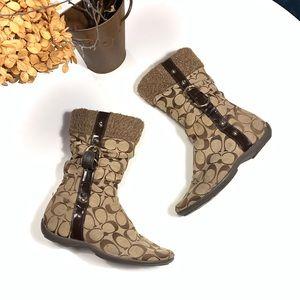 Coach mid calf boots